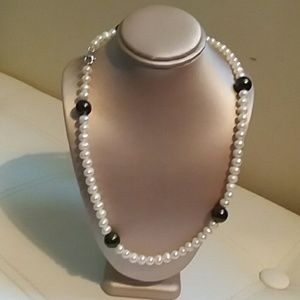 """PEARL STATION NECKLACE, SIZE 24"""""""